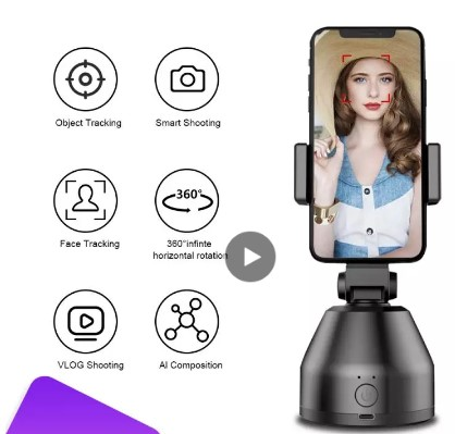 360 Roterbar Auto Face Tracking Selfie Stick Object
